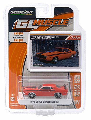 1971 DODGE CHALLENGER R/T (HEMI ORANGE) * GL Muscle Series 13 * 2015 Greenlight Collectibles Limited Edition 1:64 Scale Die-Cast Vehicle & Collector Trading Card
