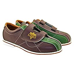 Bowlerstore Ladies TCR 3V Cobra Rental Bowling Shoes- Velcro (9 M US, Brown/Green)
