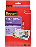 Scotch® Self-Laminating ID Protectors LS852G, Includes Clips