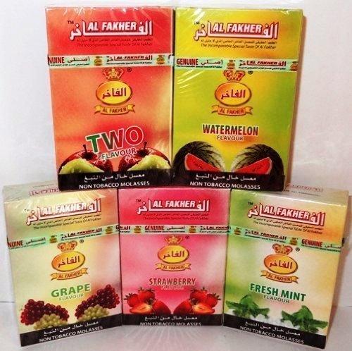 "Al Fakher Shisha Pfeife / Hookah ""Nicht Tabak Melasse"" - 1 Packung - Ihre Geschmacksrichtung Wählen"
