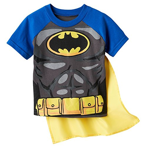 Batman Little Boys' Toddler Costume Tee with Detachable Cape
