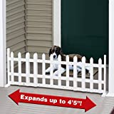 "Pet Store Free Standing Expandable White Picket Fence Pet Gate - Expands up to 53"" Wide"