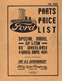 Ford Model GP Jeep Parts List: TM-1100 Ford Motor Company Staff