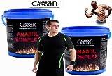 2X Anabol Komplex, Vanille und Banane, 2270g / Eimer + T-Shirt Black Magic, Sonderangebot Anabol Cracker