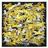 (エルメス) HERMES エルメス スカーフ 90x90 シルク100% EX LIBRIS EN CAMOUFLAGE ブラック/マスタード 241066 [並行輸入品]