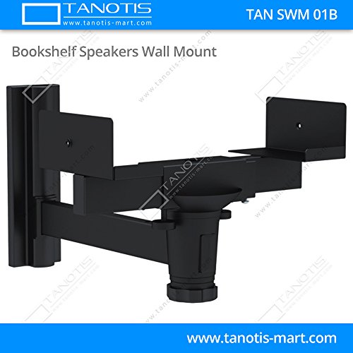 TANOTIS Imported Book Shelf Speakers Mount / Speaker Wall Mounting 360 Degree Rotation Upto30 Kg - TAN SWM 01B 600206