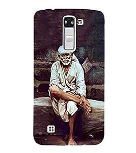 Sai Baba 3D Hard Polycarbonate Designer Back Case Cover for LG K10 :: LG K10 Dual SIM :: LG K10 K420N K430DS K430DSF K430DSY