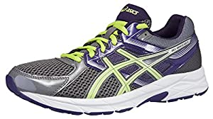 ASICS Women's GEL-Contend 3 Running Shoe (8 B(M) US, Charcoal/Sharp Green/Purple)
