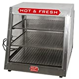 Commercial Food Pizza Pastry Warmer Countertop 24x24x24 Slanted Display