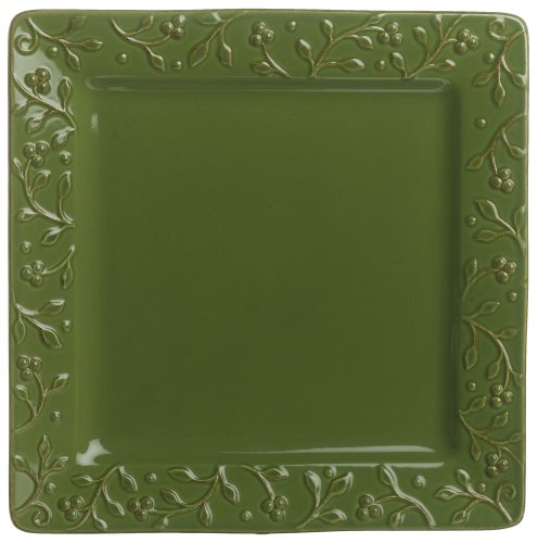 Buy Signature Housewares Chelsea 11-Inch Square Dinner Plates, Parsley, Set of 6