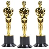 "Oscar Star Trophies for Award Ceremonies or Parties 6"" High - Perfect Achievement Awards or Birthday Gifts for Kids and Adults"