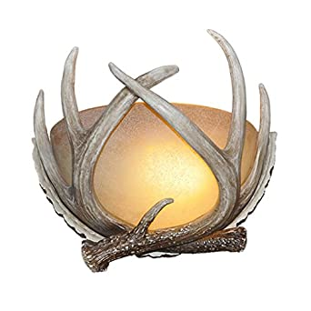 lnc rustic deer horn antler wall sconce light fixtures bulbs not. Black Bedroom Furniture Sets. Home Design Ideas