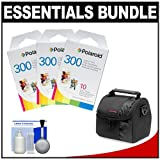 Essentials Bundle for Polaroid PIC300 Series Instant Film Analog Cameras with (3) Polaroid 300 Instant Film + Case + Cleaning Kit