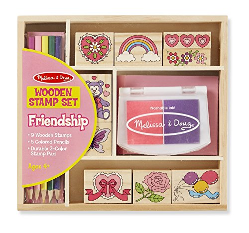 melissa-doug-wooden-stamp-set-friendship-9-stamps-5-colored-pencils-and-2-color-stamp-pad