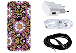Spygen MOTOROLA Moto G (1st Gen) Case Combo of Premium Quality Designer Printed 3D Lightweight Slim Matte Finish Hard Case Back Cover + Charger Adapter + High Speed Data Cable + Premium Quality Aux