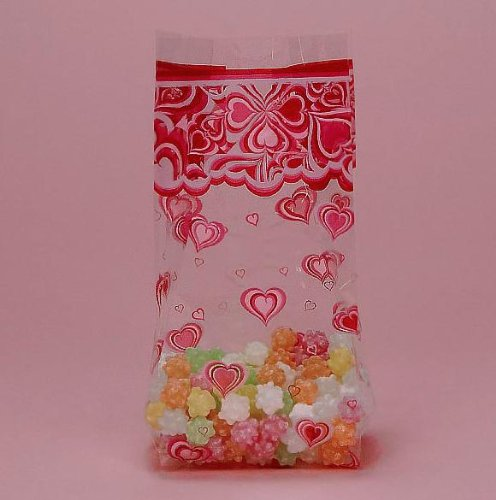 Groovy Love Hearts Cello Party Bags - 20/Pack