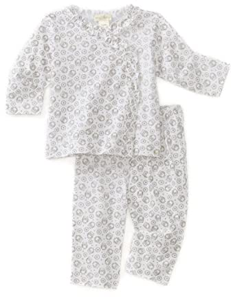 Angel Dear Baby-girls Newborn Owl Ruffle Top and Pant, White, 6-9 Months
