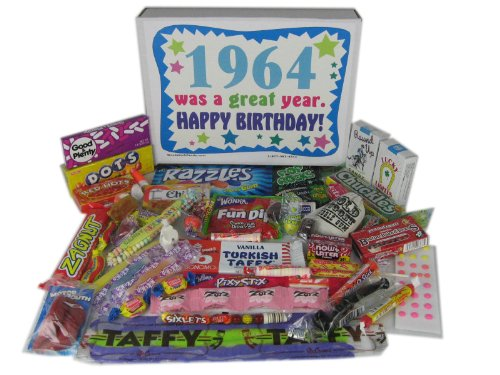 1964 50th Birthday Gift Basket Box Retro Nostalgic Candy From Childhood