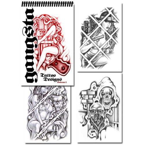 Gangsta Tattoo Designs (Volume 1): Various Artists: Amazon.com: Books