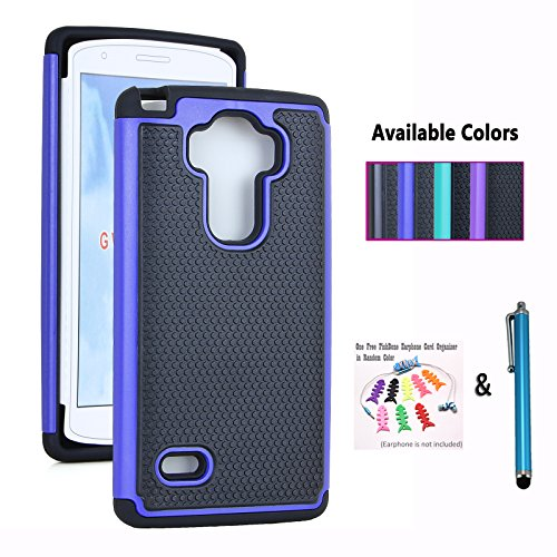 The Little Penguin LG G Vista 2 Case, Armor Defender Skin Case for LG G Vista 2 - Anti-shock Hard and Soft Dual Layer (Armor Pocket Case - Blue) (The Little Penguin Inc compare prices)