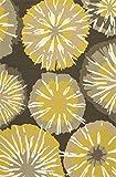 Jaipurrugs Home Indoor Floor Decorative Abstract Pattern Polypropylene Yellow/Gray Indoor-Outdoor Starburst Rectangle Area Rug Gray/Yellow 2x3