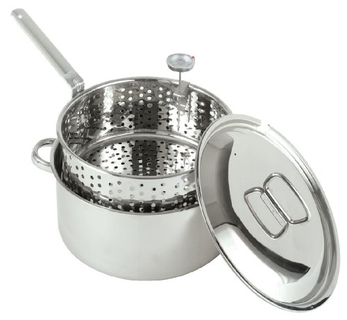 Review Of Bayou Classic 1101 10-Quart Stainless-Steel Fry Pot with Lid and Basket
