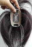 Richair 最高級 5cm*8cm ヘアピース 部分ウィッグ 人毛100% つけ毛 ウィッグ 増毛部分かつら 人毛で制作 白髪隠れ 通気性よく ポイントウィッグ 自然な黒 茶色 2種 (6# 茶色)