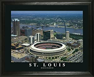 St. Louis Cardinals - Busch Memorial Stadium Aerial - Lg - Framed Poster Print by Laminated Visuals