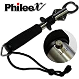 Phileex Portable Fish Lip Grabber Gripper Grip Tool Stainless Steel Fishing Gear 15KG and 30 Pound with weight Scale