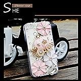 iPhone4/iphone4s/iPhone5/5sケース アイフォン4s ケース/カバー デコ デコレーション スワロフスキー スマホケース  キュート ラインストーン ハンド デコケース キラキラ 手作り 3D 立体 カボチャの馬車 フラワー 花 ピンク カボチャ 馬車 姫系 1号色 5G