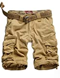 Match Mens Twill Cargo Shorts Quick-dry Summer Shorts S3612 (Label size 3XL/38 (US 36), Khaki)