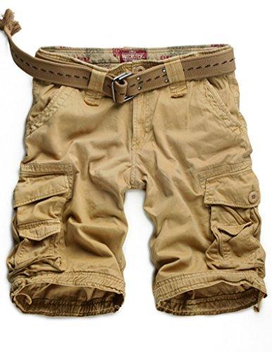 Match Men's Twill Comfort Cargo Short Without Belt #S3612 (Label size L/32 (US 30), Khaki) Shorts