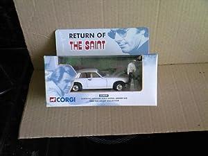 corgi return of the saint white jaguar XJS car 1.36 scale diecast model
