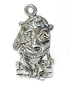 RETRO CHARMS: Vintage Finished Sterling Silver 925 Humpty Dumpty Charm V495 by CLASSIC DESIGNS