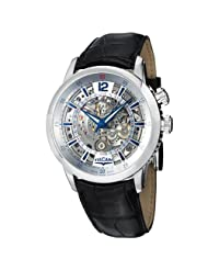 Vulcain Anniversary Heart Men's Silver Skeleton Dial Mechanical Alarm Watch 180128.175LF