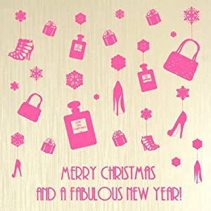 """ Merry Christmas And A Fabulous New Year "" Boxed Christmas Cards (6 Cards Per Box)- CP2"