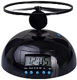 Venkon - Flying Helicopter Alarm Clock: The Propeller Flies Away When the Alarm Goes Off - Black