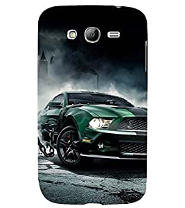 ANIMATED GREEN RACING CAR TIED TO STEEL ROPE 3D Hard Polycarbonate Designer Back Case Cover for Samsung Galaxy Grand Neo Plus :: Samsung Galaxy Grand Neo Plus i9060i