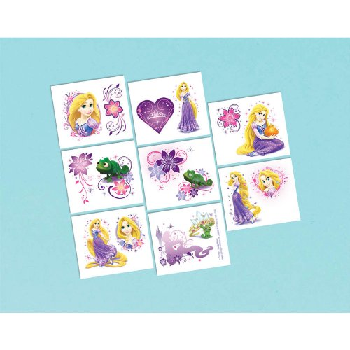 "Amscan Disney Princess Rapine Temporary Tattoo, Multicolored, 2"" x 1 3/4"""