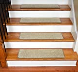 Dean Ultra Premium Stair Gripper Non-Slip Tape Free Pet Friendly DIY Stainmaster Nylon Carpet Stair Treads/Rugs 30