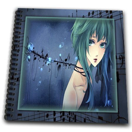 3Drose Db_24102_1 Anime And Notes Drawing Book, 8 By 8-Inch