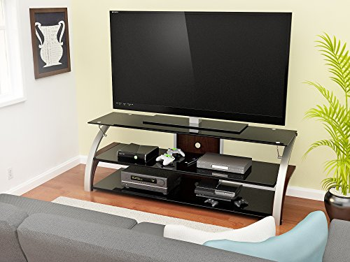 Z-Line Designs Elecktra TV Stand, 55-Inch, Brown (55 Inch Tv Stand With Mount compare prices)