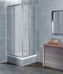 Eckeinstieg Duschkabine Kunststoffglas Tropfendekor Silberne Profile 80x80 90x90 80x90 90x80  BaumarktKritiken und weitere Informationen