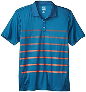 adidas Golf Men's Puremotion Climacool Gradient Stripe Polo, Midnight/Hi-Res Red, Small
