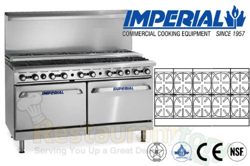 "Imperial Commercial Restaurant Range 60"" With 10 Step Up Burner 2 Convection Oven Propane Ir-10-Su-Cc front-630648"