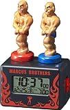 リズム時計 歌って鍛えて語りかける。アクション目覚まし時計 マーカスブラザース 8RDA62RH02