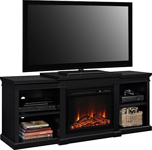 altra furniture manchester tv stand with fireplace 70 black home garden fireplaces. Black Bedroom Furniture Sets. Home Design Ideas
