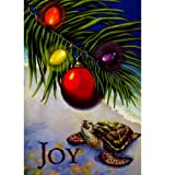 Hawaiian Christmas Cards Box of 10 Turtle with Palm Leaf