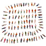 douself 100Pcs OO Scale 1:75 Mix Painted Model Train Park Street Passenger People Figures Magic Toy for Kids Children