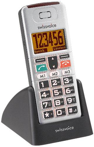Swissvoice MP01 - Großtasten Mobiltelefon mit beleuchteten Tasten und Notizfläche